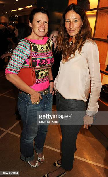 Katie Grand and Sarah Murray attend the Kate Moss Longchamp LFW party at Lonchamp on September 21 2010 in London England