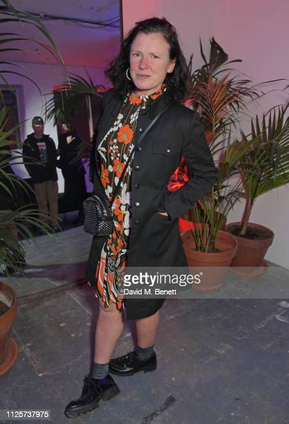 Katie Grand attends the LOVE x The Store X party celebrating LOVE issue 21 supported by Perrier Jouet at The Store X on February 18 2019 in London...