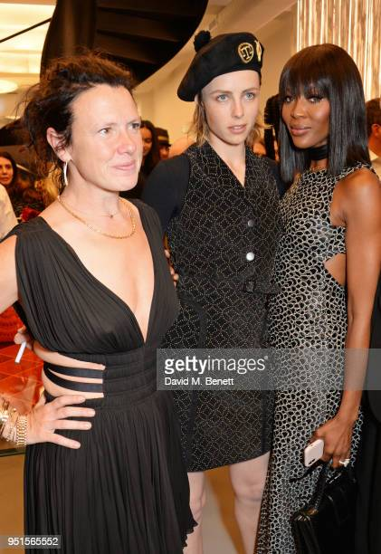 Katie Grand Edie Campbell and Naomi Campbell attend the opening of Maison Alaia on New Bond Street on April 26 2018 in London England