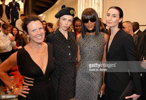 Katie Grand Edie Campbell Naomi Campbell and Erin O'Connor attend the opening of Maison Alaia on New Bond Street on April 26 2018 in London England