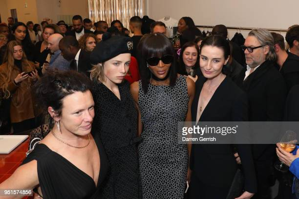 Katie Grand Edie Campbell Naomi Campbell and Erin O'Connor attend the Maison Alaia London store opening Maison Alaia on April 26 2018 in London...