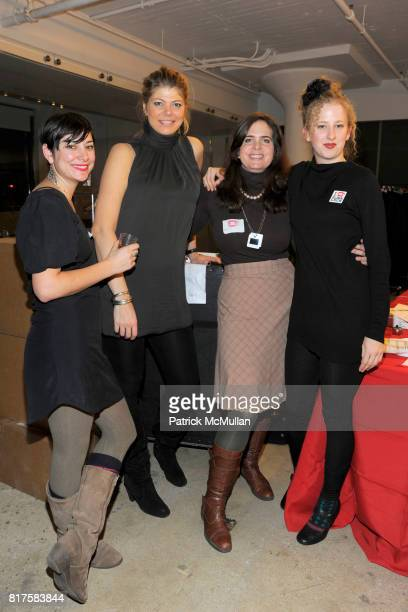 Katie Gross Merel Kleyn Amelie Escher and Carly Planker attend SLIDELUCK Auction and Fundraiser Hosted by DJ SPOOKY and PATRICK MCMULLAN at Sandbox...