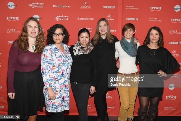 Katie Hackett Yamit Shimonovitz Barbie Leung Ashly Covington Jennifer Gittings and Soraya Selene attend the Half The Picture Premiere during the 2018...