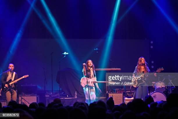 Katie Henderson Cristal Ramirez McKenna Petty and Alisa Ramirez of The Aces performs at Mercury Ballroom on February 23 2018 in Louisville Kentucky