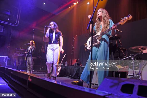 Katie Henderson Cristal Ramirez McKenna Petty and Alisa Ramirez of The Aces performs at Mercury Ballroom on February 23 2018 in Louisville Kentucky