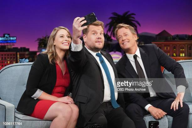 Katie Hill and Greg Kenner on The Late Late Show with James Corden airing Tuesday October 30 2018