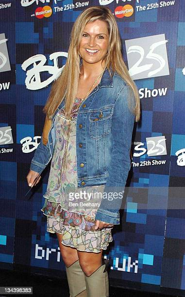 Katie Hill during BRIT Awards 2005 Nominations Arrivals at Park Lane Hotel in Piccadilly West London United Kingdom