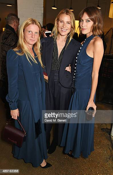 Katie Hillier, Dree Hemingway and Alexa Chung attend a private dinner hosted by Matchesfashion.com to celebrate the launch of Hillier Bartley with...