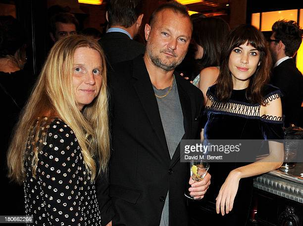 Katie Hillier Juergen Teller Alexa Chung attend a private dinner hosted by British Vogue celebrating London Fashion Week SS14 at Balthazar on...