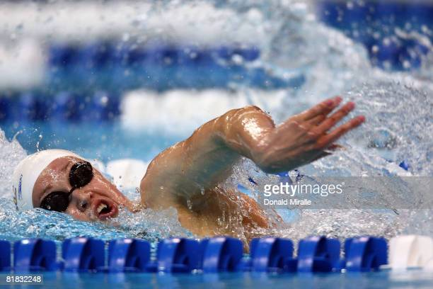 Katie Hoff swims en route to winning the final of the 800 meter freestyle during the US Swimming Olympic Trials on July 5 2008 at the Qwest Center in...