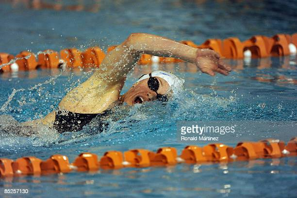 Katie Hoff swims in the Women's 500 yard Freestyle preliminaries during day one of the 2009 USA Swimming Austin Grand Prix on March 5 2009 at the Lee...