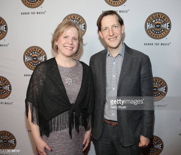 Katie Hogue and Chris Eldridge attend the Country Music Hall of Fame and Museum's new exhibition American Currents The Music of 2018 on March 5 2019...