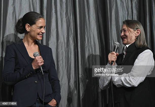 Katie Holmes and Cherry Jones attend the 'Days And Nights' premiere at IFC Center on September 25 2014 in New York City