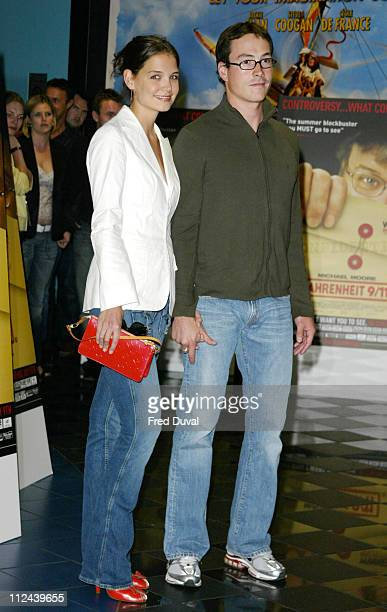 Katie Holmes and Chris Klein during Celebrity Screening of 'Fahrenheit 9/11' June 29 2004 at Vue Cinema in London England Great Britain