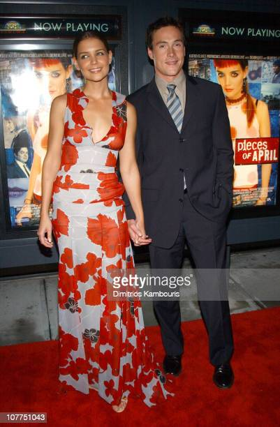 Katie Holmes and Chris Klein during 'Pieces of April' New York City Premiere at Landmark's Sunshine Theater in New York City New York United States