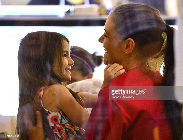 Katie Holmes and daughter Suri Cruise visit Sundaes and Cones in the East Village on July 3 2012 in New York City