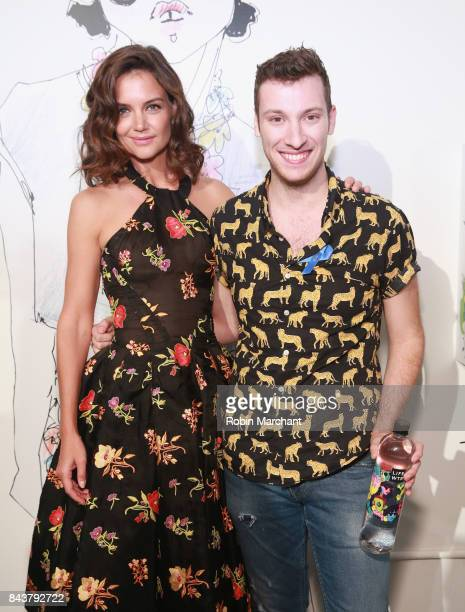 Katie Holmes and designer Adam Dalton Blake attend his fashion show during New York Fashion Week on September 7 2017 in New York City