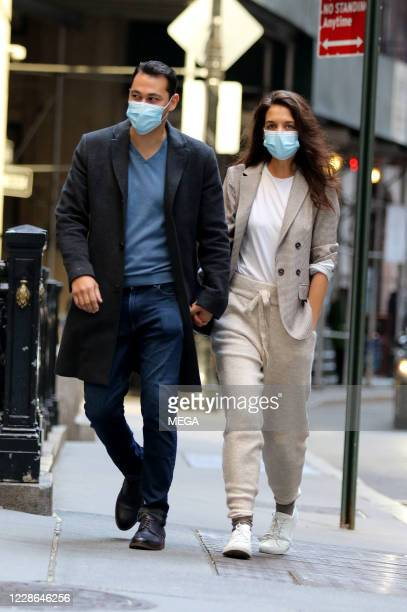 Katie Holmes and Emilio Vitolo Jr. Out for a walk on September 21, 2020 in New York City, New York.