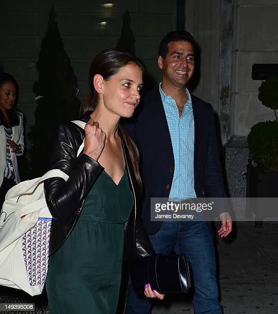 Katie Holmes and her lawyer Jonathan Wolfe are seen leaving NoMad Hotel on July 27 2012 in New York City