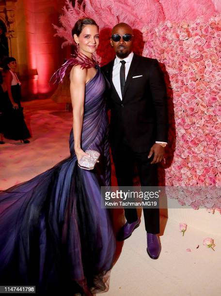 Katie Holmes and Jamie Foxx attend The 2019 Met Gala Celebrating Camp Notes on Fashion at Metropolitan Museum of Art on May 06 2019 in New York City