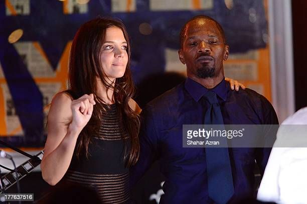 katie Holmes and Jamie Foxx perform at the 4th Annual Apollo In The Hamptons Benefit on August 24 2013 in East Hampton New York