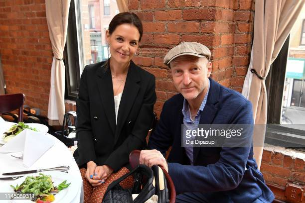 Katie Holmes and Jonathan Ames attend the 2019 Tribeca Film Festival Jury Lunch at Tribeca Grill Loft on April 25, 2019 in New York City.