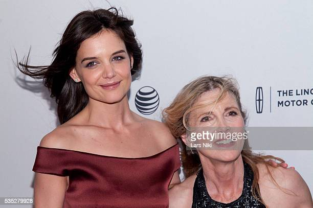 Katie Holmes and Karen Leigh Hopkins attend the Miss Meadows screening at the SVA Theater in New York City © LAN