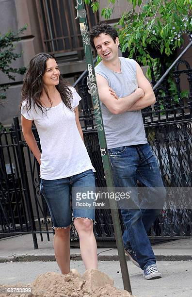 Katie Holmes and Luke Kirby filming on location for Mania Days on May 14 2013 in New York City