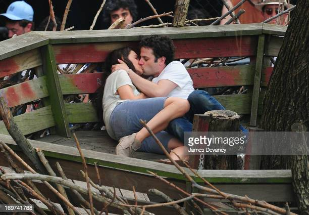 Katie Holmes and Luke Kirby kiss on the set of 'Mania Days' on May 31 2013 in New York City