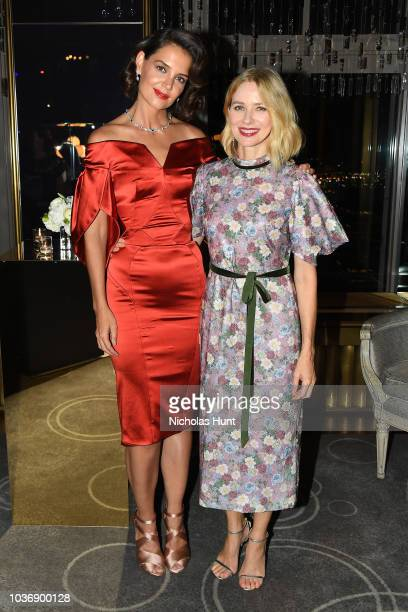 Katie Holmes and Naomi Watts attend the New York Collection by Harry Winston at The Rainbow Room on September 20 2018 in New York City