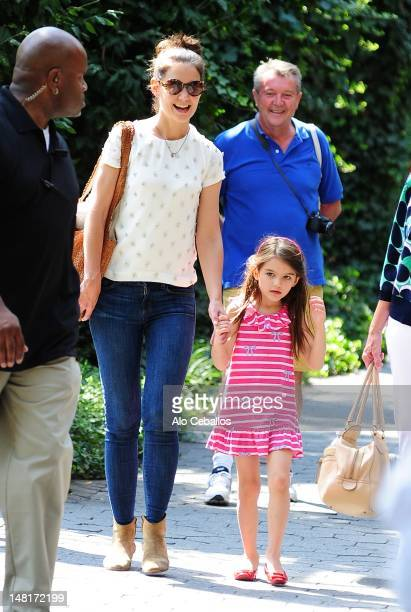 Katie Holmes and Suri Cruise are seen at the Central Park Zoo on July 11 2012 in New York City