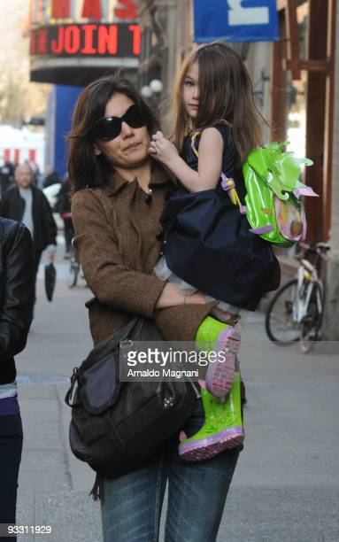 Katie Holmes and Suri Cruise are seen downtown on November 22 2009 in New York City