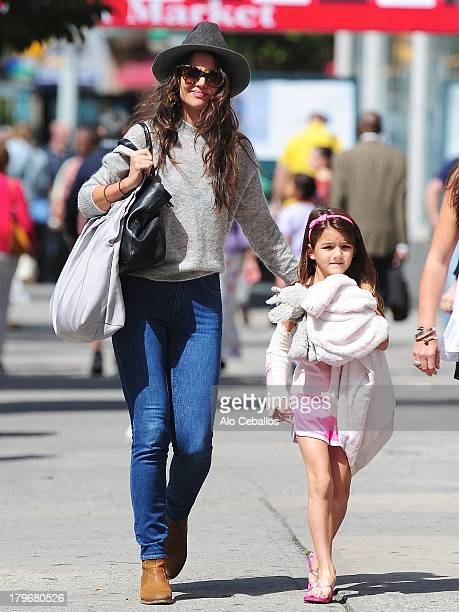 Katie Holmes and Suri Cruise are seen in Chelsea on September 6 2013 in New York City