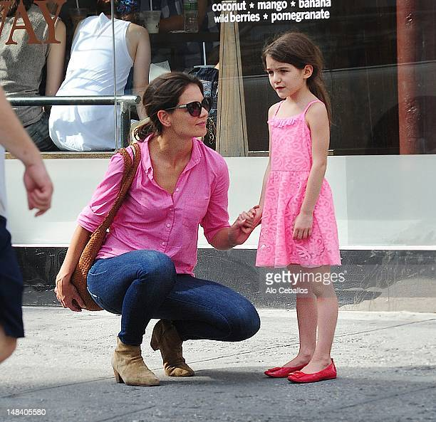 Katie Holmes and Suri Cruise are seen on July 15 2012 in New York City