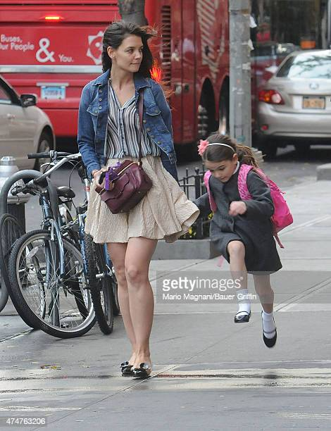 Katie Holmes and Suri Cruise are seen on November 12 2012 in New York City
