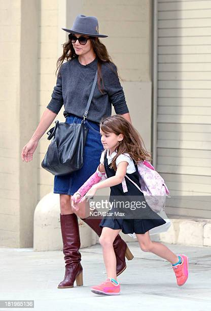 Katie Holmes and Suri Cruise are seen on September 26 2013 in New York City
