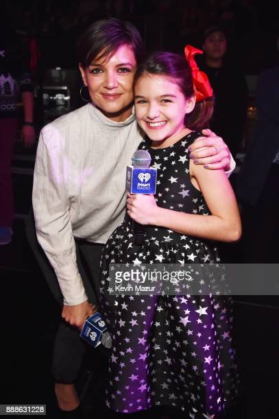 Katie Holmes and Suri Cruise attend the Z100's Jingle Ball 2017 on December 8 2017 in New York City
