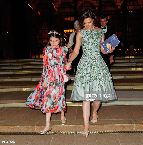 Katie Holmes and Suri Cruise enjoy a night at American Ballet Theater at Lincoln Center on May 21 2018 in New York City