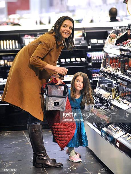 Katie Holmes and Suri Cruise is seen on the streets of Manhattan on February 10 2010 in New York City
