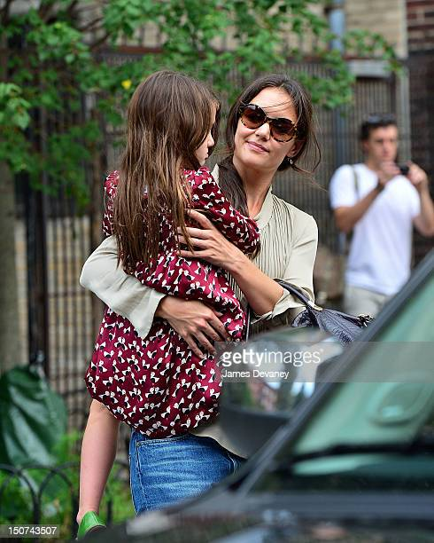 Katie Holmes and Suri Cruise leave Bleecker Playground on August 25 2012 in New York City