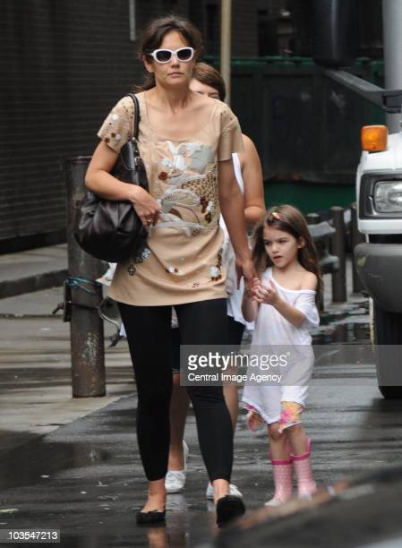Katie Holmes and Suri Cruise seen on the streets of Toronto on August 22 2010 in Toronto Ontario Canada