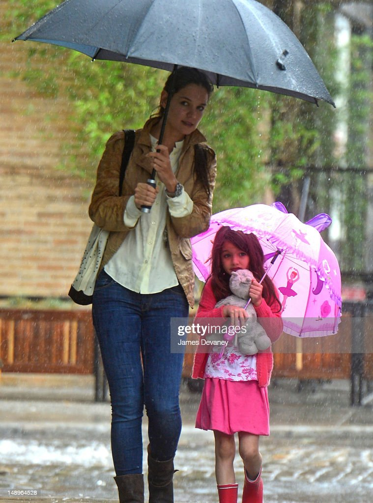 Katie Holmes And Suri Cruise Sightings In New York City - July 20, 2012