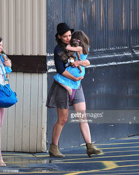 Katie Holmes and Suri Cruise sighting on August 17 2011 in New York City