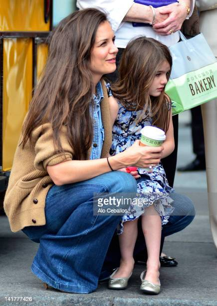 Katie Holmes and Suri Cruise sighting on March 23 2012 in New York City