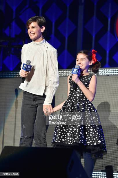 Katie Holmes and Suri Cruise speak at Z100's Jingle Ball 2017 on December 8 2017 in New York City