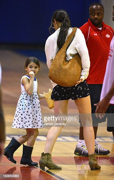 Katie Holmes and Suri Cruise visit Chelsea Piers on August 23 2012 in New York City