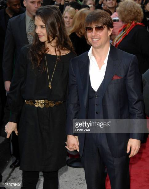 Katie Holmes and Tom Cruise arrive to a benefit for the New York Rescue Workers Detoxification Project held at the Altman Building, New York City...