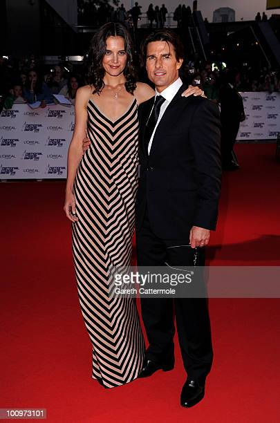 Katie Holmes and Tom Cruise attend the National Movie Awards 2010 at the Royal Festival Hall on May 26 2010 in London England