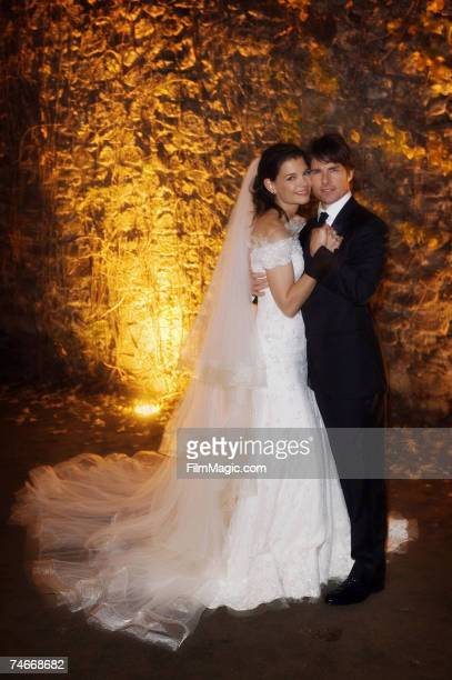 Katie Holmes and Tom Cruise were wed just after sunset on November 18 2006 at Odescalchi Castle overlooking Lake Braccino outside of Rome Italy More...