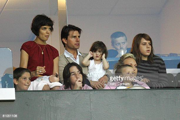 Katie Holmes and Tom Cruise with daughters Suri Cruise and Isabella KidmanCruise with David Beckham's son Cruz Beckham and Brooklyn Beckham watch the...